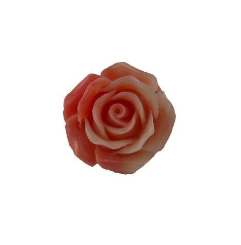 Jt Ασημένιο δαχτυλίδι κοραλί τριαντάφυλλο με κοράλλια
