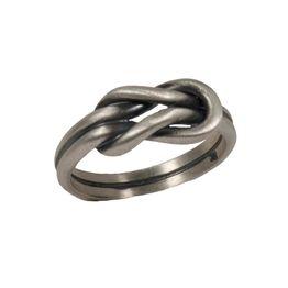Jt Ασημένιο ανδρικό δαχτυλίδι βυζαντινό πλατύ με κόμπο