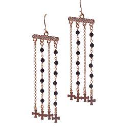 Jt Ασημένια σκουλαρίκια κρεμαστά σταυροί