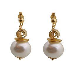 Jt Ασημένια σκουλαρίκια λευκές πέρλες