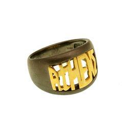 Jt Ανδρικό ασημένιο δαχτυλίδι με ανάγλυφο Athens