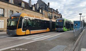 Confinement : baisse de la fréquentation des bus à Metz, l'offre de transport réduite