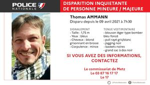 Disparition inquiétante à Montigny-lès-Metz le 9 avril, avez-vous vu Thomas ?