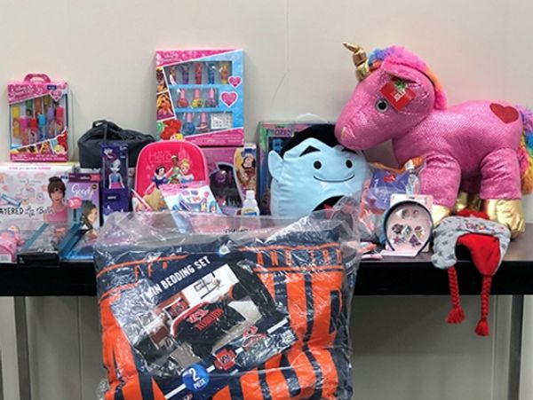Christmas gifts for AIDS Alabama child