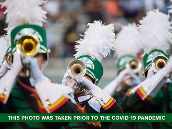 Marching Blazers students picked to perform virtually with national Intercollegiate Marching Band on Jan. 11