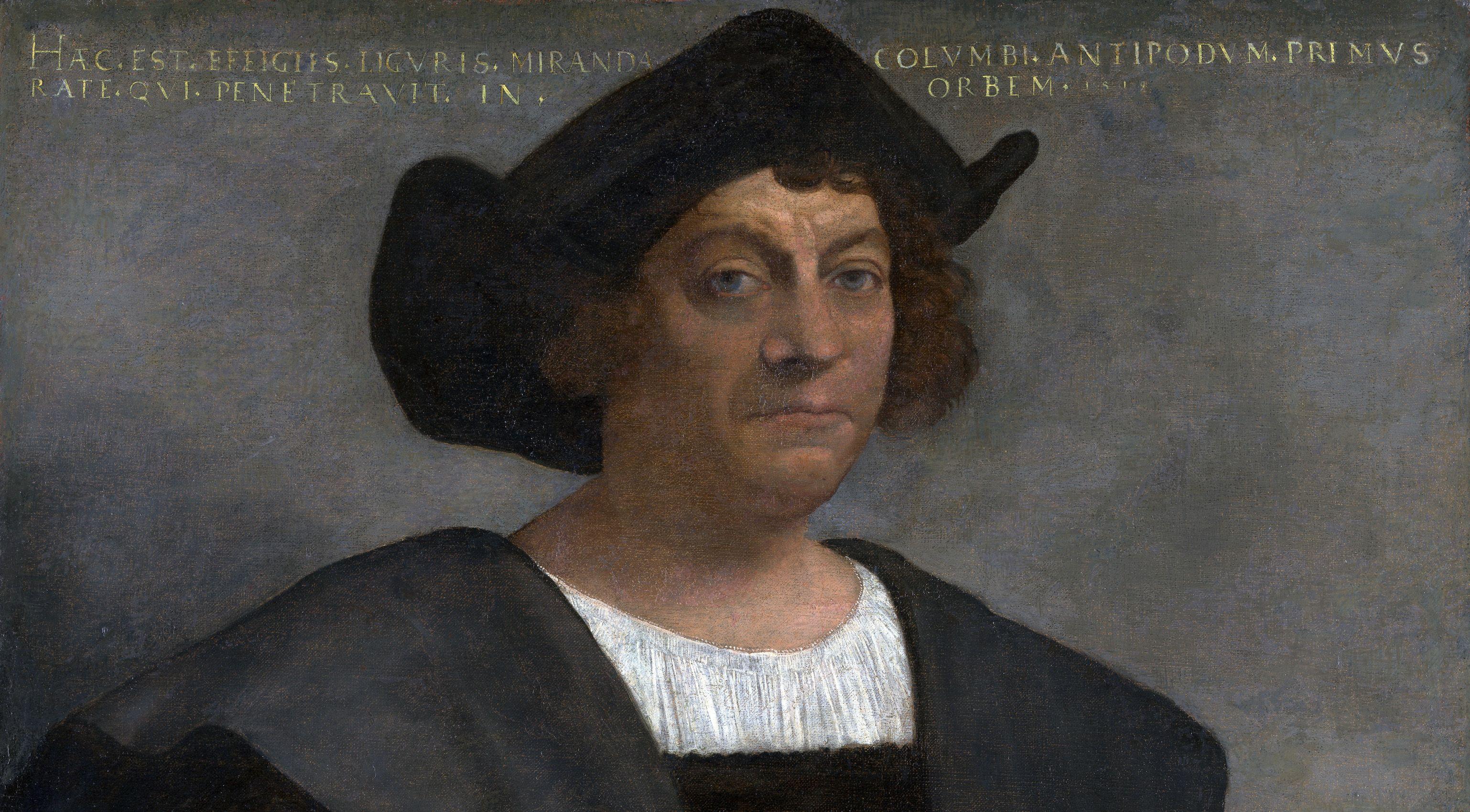 Porträt eines Mannes, der Christoph Kolumbus sein soll | Bildquelle: https://commons.wikimedia.org/wiki/File:CristobalColon.jpg © Sebastiano del Piombo, Public domain | Bilder sind in der Regel urheberrechtlich geschützt