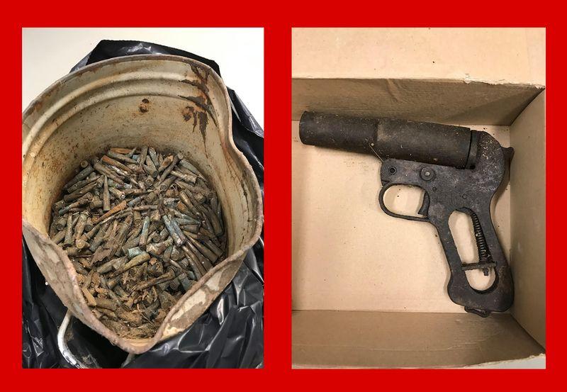Ohtlikest esemetest loobumise kampaania on korrakaitsjateni toonud padrunid ja stardipüstoli