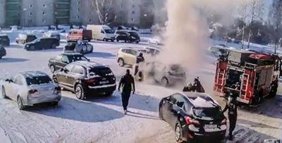 Neljapäeval põles Kagukeskuse parklas sõiduauto