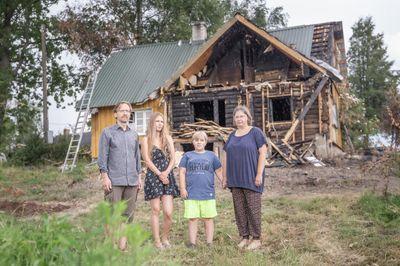FOTOD Koguduse õpetaja Argo Oleski pere kaotas tuleõnnetuses kodumaja
