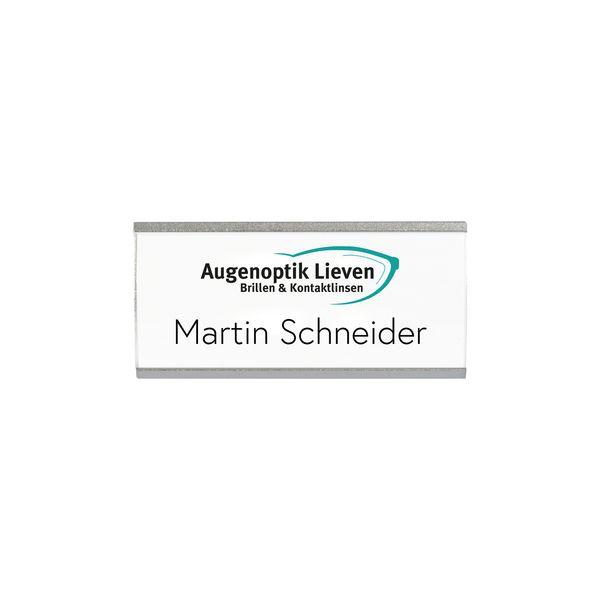 Metall-Profil-Namensschild gewölbt mit Magnet
