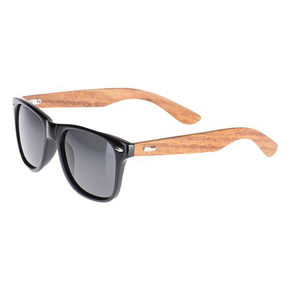 Sonnenbrille Echtholz Bambus Rahmen schwarz