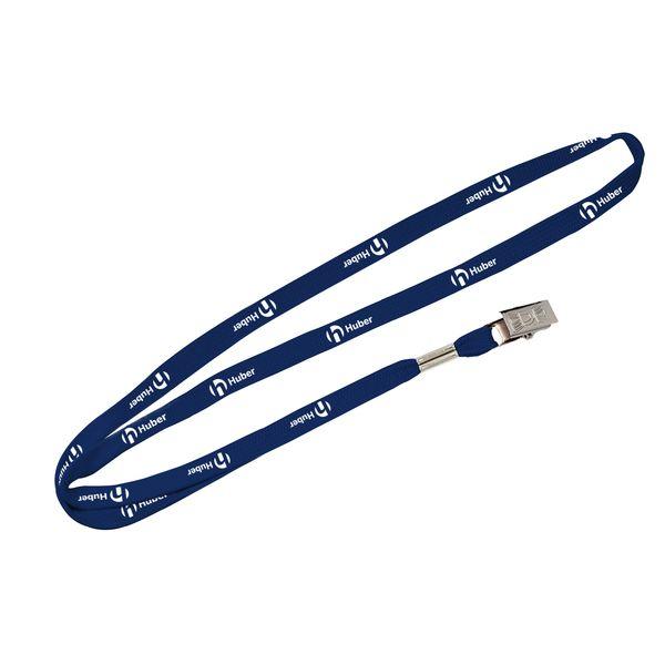 Umhängeband Schlauchband mit Metallklammer 10 mm
