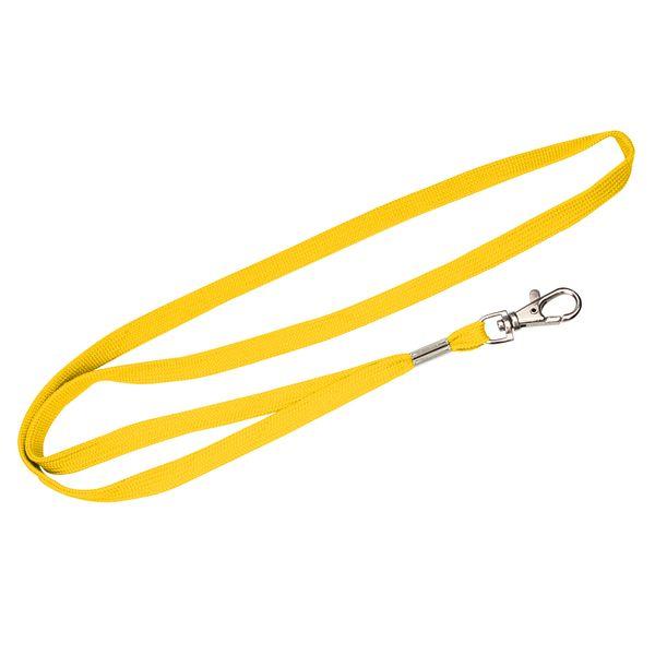 Schlauchband 10 mm in gelb mit Karabinerhaken