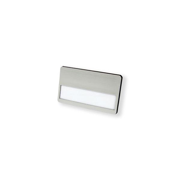 Kunststoff-Namensschild, Magnet in schwarz