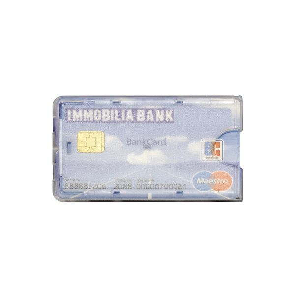 Scheckkartenhalter für Kreditkarten aus Polystyrol