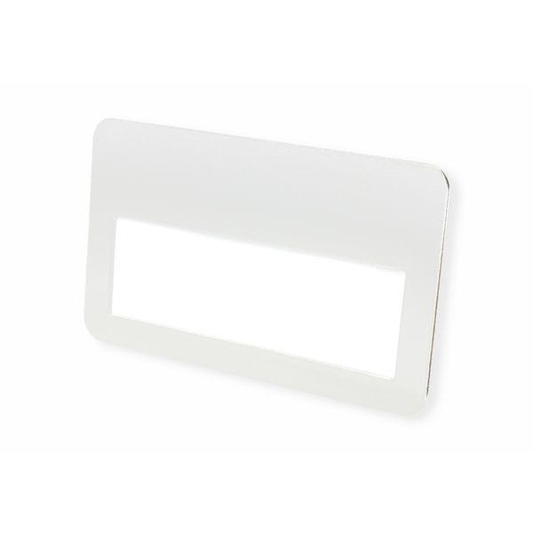 Metall-Namensschild mit schwarzem Magneten