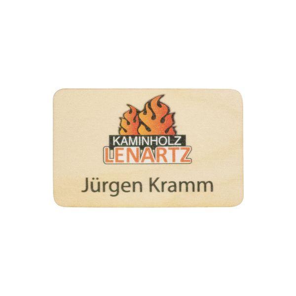 Holz-Namensschild im Format 87 x 55 x 3 mm