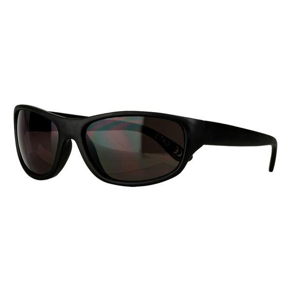 Sportbrille in schwarz Gläser in smoke