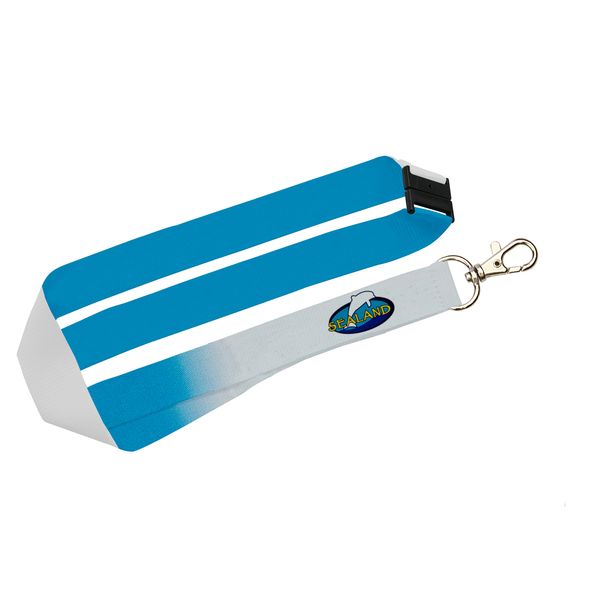 Umhängeband Flachband mit Sicherheitsverschluss