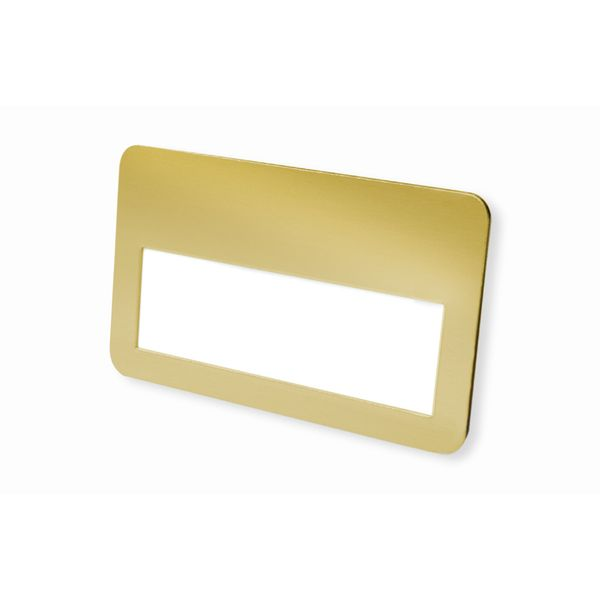 Metall-Namensschild goldfarbig 75 x 45 mm Clip