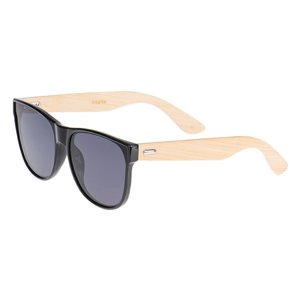Sonnenbrille Bambus-Echtholzbügel Kunststoff-Front