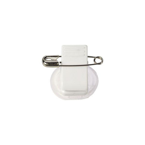 Kunststoff-Klammer und Sicherheitsnadel drehbar