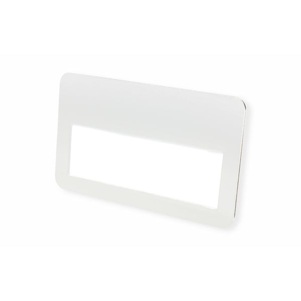 Metall-Namensschild 75 x 45 mm in weiß glänzend