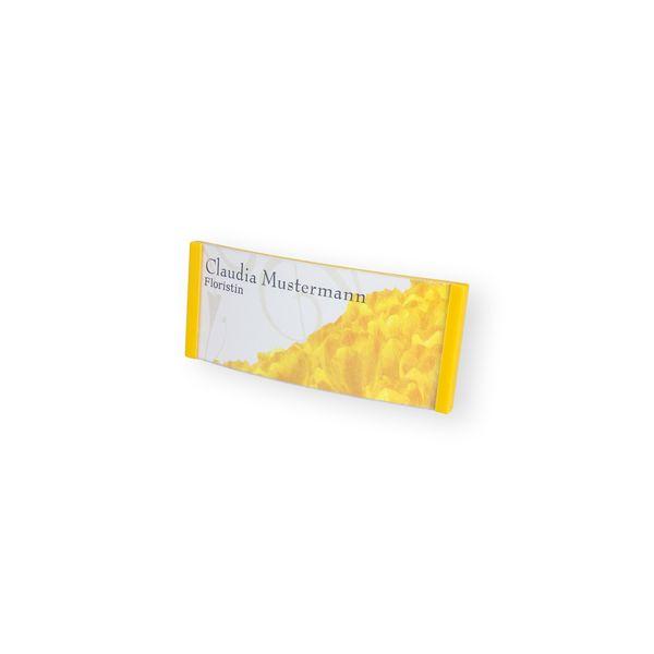 Namensschild - gewölbt - 80 x 34 mm - gelb