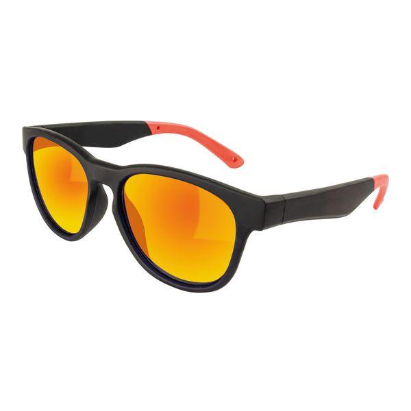 Sonnenbrille Gläser verspiegelt Bügelenden in rot