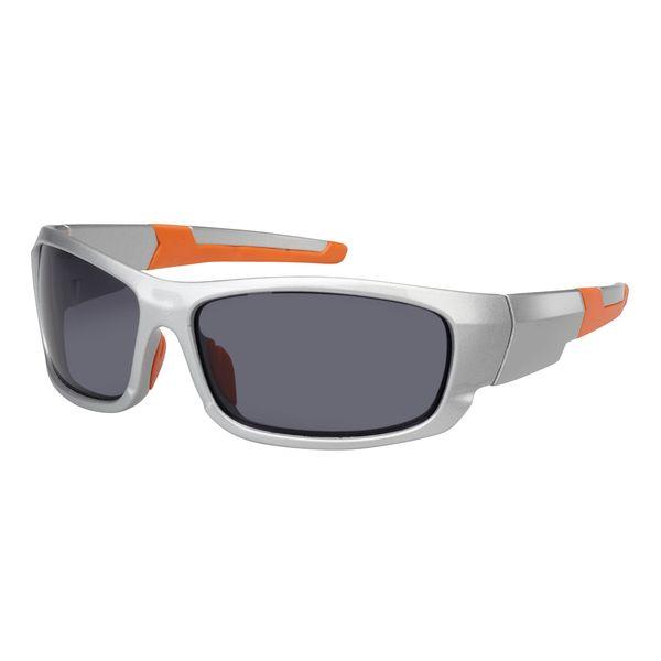 Sonnenbrille - Bügel in silber-orange - UV-400