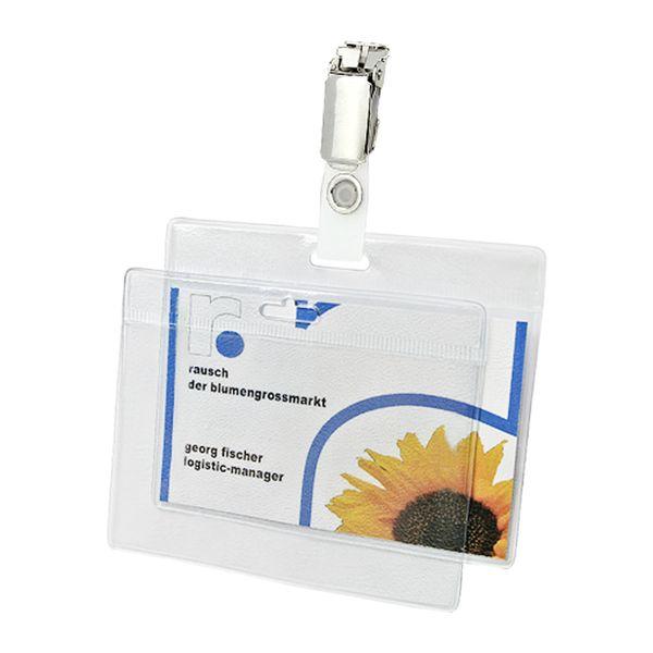 Ausweishülle mit Ausweisclip Einlage 90 x 55 mm