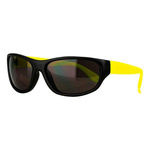 Sportbrille in schwarz-gelb