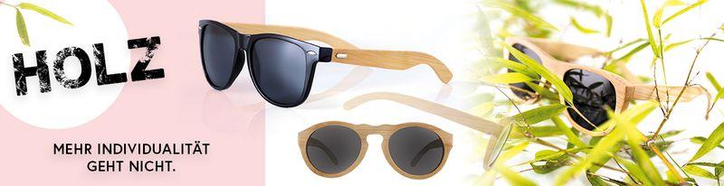 Holz-Sonnenbrillen, Bambus Echtholz mit UV-400 Schutz