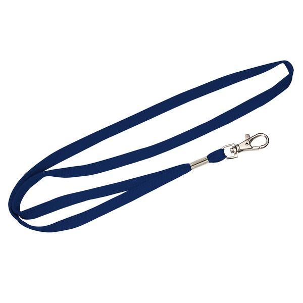 Schlauchband 10 mm in blau navy mit Karabinerhaken