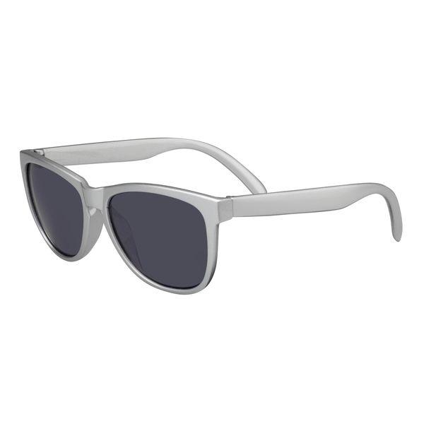 Sonnenbrille smoke Gläser Gestell in silberfarbig