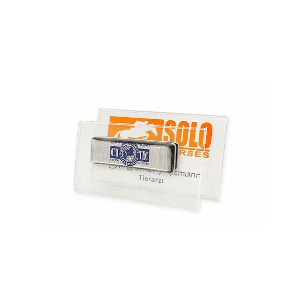Acryl-Namensschild, 75 x 40 mm, starker Magnet