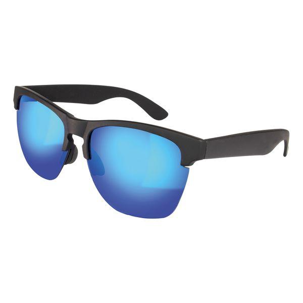 Sonnenbrille, blau verspiegelt