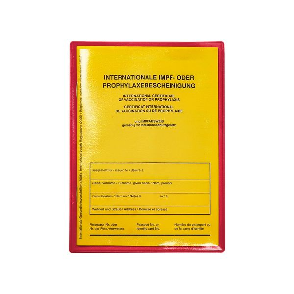 Impfpasshülle - Steckhülle in transparent-rot