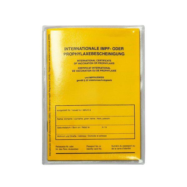 Impfpasshülle - Steckhülle transparent