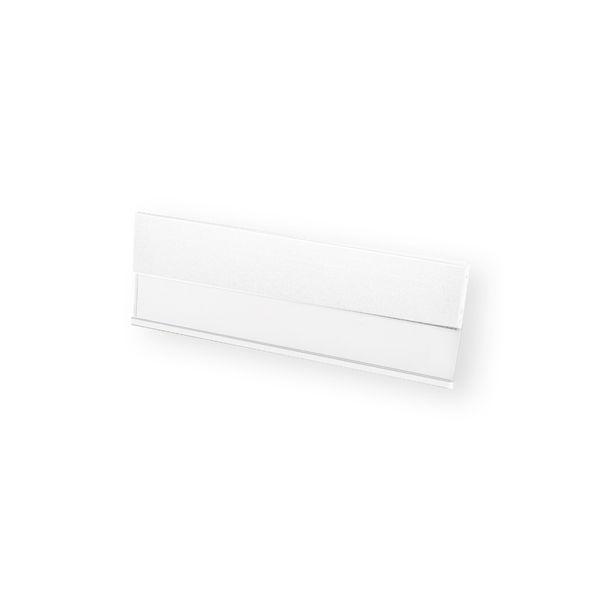 Profil-Namensschild aus Aluminium in lila