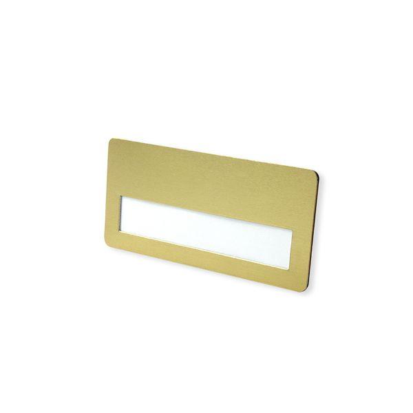 Metall-Badge goldfarbig mit extrem starkem Magnet
