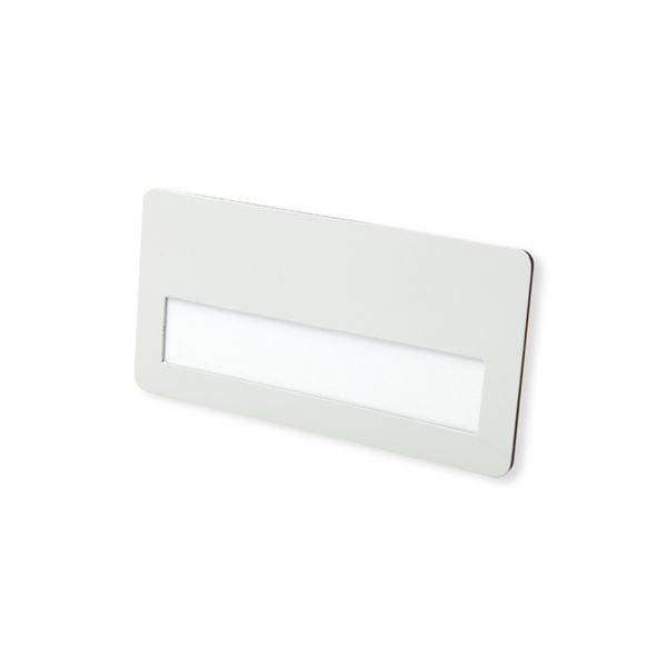 Metall-Namensschild in weiß 74 x 36 mm mit Magnet