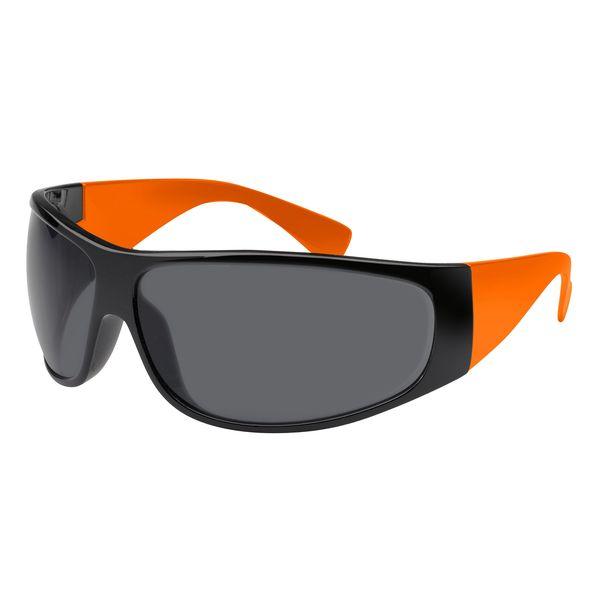 Sonnenbrille Gestell in schwarz - Bügel in orange