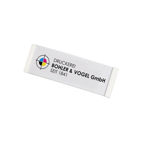 Kunststoff Namensschild, gewölbt, in weiß