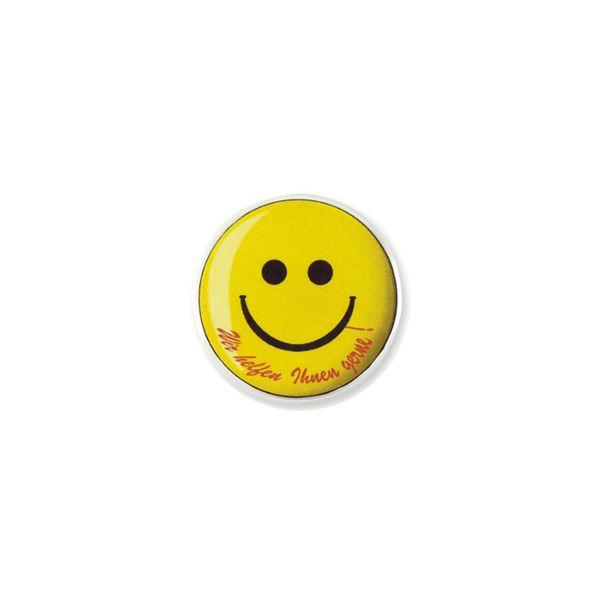 Kunststoff-Button, weiß mit schwarzem Magneten