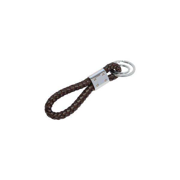 Schlüsselanhänger aus Kunstleder in braun