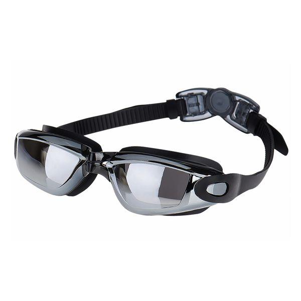 Schwimmbrille in schwarz mit UV-Schutz