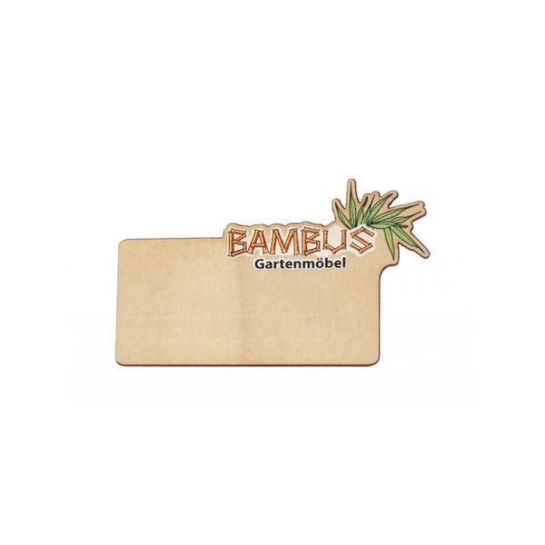 Holz-Namensschild mit Holzklammer