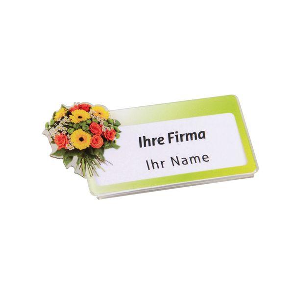 Branchen-Acryl-Namensschilder - Floristik
