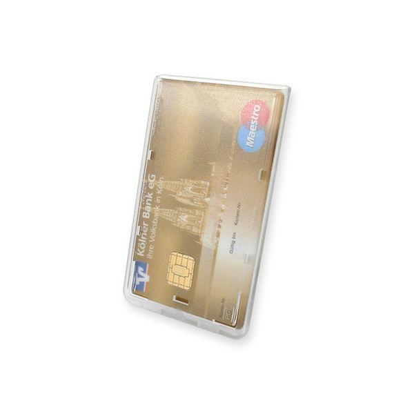 Scheckkartenhalter aus Polystyrol für eine Karte
